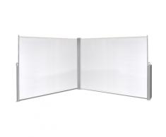 vidaXL Ausziehbare Seitenmarkise 180x600 cm Creme