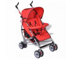 vidaXL Kinderwagen Buggy Sportwagen Kinderbuggy Liegebuggy Babywagen Rot