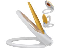 vidaXL Weiß/Gelber WC-Sitz mit Absenkautomatik für Kinder und Erwachsene