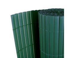vidaXL 90 x 500 cm PVC Sichtschutz Windschutz Balkon Terrasse Grün