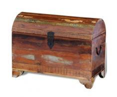 vidaXL Truhe Aufbewahrungsbox Holztruhe aus recyceltem Holz