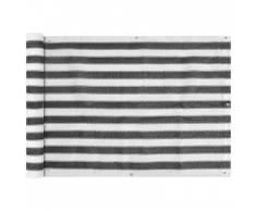 vidaXL Balkonsichtschutz HDPE 75x600 cm anthrazit und weiß