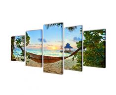 vidaXL Bilder Dekoration Set Hängematte 100 x 50 cm