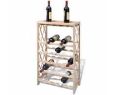 vidaXL Holz Weinregal für 25 Flaschen