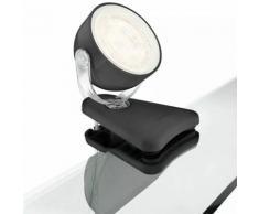 Philips myLiving LED Klemmlampe Dyna 3W Schwarz 532313016