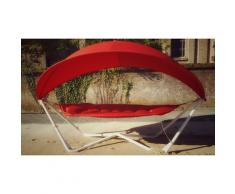 SORARA Outdoor Living Gondola Hängematte mit Sonnenschutz | Rot