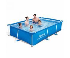 Bestway Steel Pro Schwimmbad eckig Pool 259x170x61cm Stahlrahmen 56403