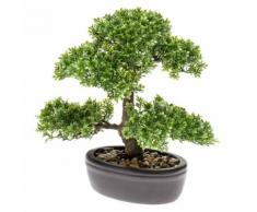 Emerald Kunstpflanze Bonsai Mini-Ficus Grün 32 cm 420002