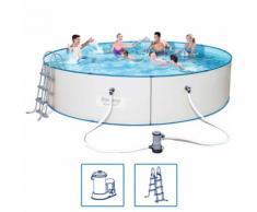 Bestway Hydrium Pro Schwimmbad Set Stahlrahmen 488x107 cm 56607