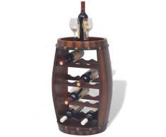 vidaXL Weinregal Fassform für 14 Flaschen Braun