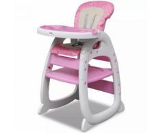 vidaXL Pinker Umwandelbarer 3-in-1 Baby-Hochstuhl