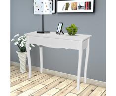 vidaXL Konsole Tisch Konsolentisch Frisiertisch weiß