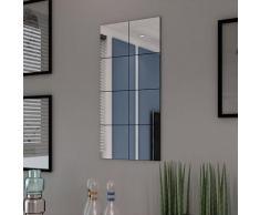 vidaXL Rahmenlos Spiegel Fliesen Glas 8 Stk. 20,5 cm