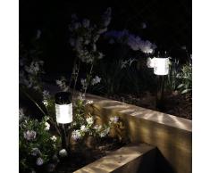 Luxform 12x Macon Solarleuchte Gartenleuchte