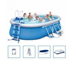 Bestway Stahl Pro Schwimmbad Set Stahlrahmen 549x366x122 cm 56461