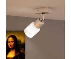 vidaXL Lamp mit 1 Glasschirm LED Wandstrahler Deckenstrahler