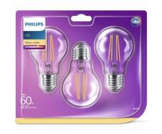 Philips LED Lampen 3 Stück Classic 60 W 929001387373