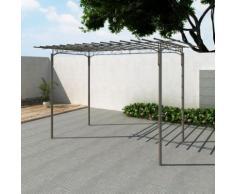 vidaXL Stahl Pavillon Gartenlaube Gartenhaus Laube