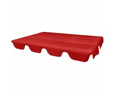 vidaXL Ersatzdach für Gartenschaukel Rot 249x185 cm