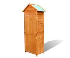 vidaXL Gartenschrank aus Holz wasserfest