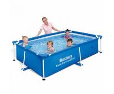 Bestway Steel Pro Schwimmbad eckig Pool 239x150x58cm Stahlrahmen 56402