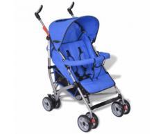 vidaXL Kinderwagen Buggy Sportwagen Kinderbuggy Liegebuggy Babywagen Blau