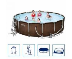 Bestway Stahl Schwimmbad Set Stahlrahmen Rund 427x107 cm 56647