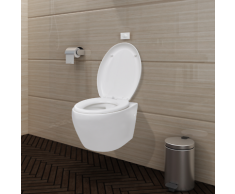 vidaXL Wand-Hänge WC/Toilette Klo Wandhängend Weiß