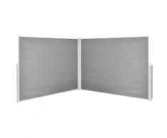 vidaXL Ausziehbare Seitenmarkise 180x600 cm Schwarz