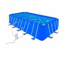 vidaXL Schwimmbad Set Rechteckig 12945 L + Filterpumpe