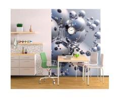 ROLLER Fototapete, Mustertapete 4-teilig Silberne Kugeln - 183x254 cm