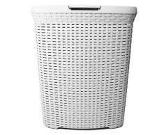 ROLLER Wäschekorb - weiß - Kunststoff - 60 Liter