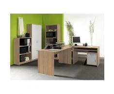 ROLLER Büromöbel-Set Office Compact - Sonoma Eiche-weiß
