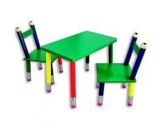 ROLLER Kinder-Sitzgruppe - 3 tlg. - Buntstift-Optik