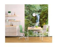ROLLER Fototapete, Mustertapete 4-teilig Wasserfall im Frühling - 183x254 cm