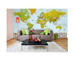ROLLER Fototapete, Mustertapete 8-teilig Weltkarte