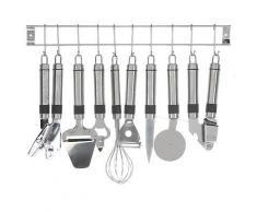 ROLLER 9-teiliges Küchenhelfer-Set - Edelstahl rostfrei