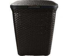 ROLLER Wäschekorb - schwarz - Kunststoff - 60 Liter