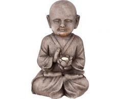 ROLLER LED-Solarleuchte, Solarlampe - Buddha - grau