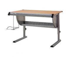 ROLLER Funktions-Schreibtisch, Bürotisch, Schülerschreibtisch Beech