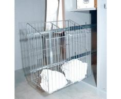 ROLLER Wäschekorb - Metall - ausziehbar - 33x55 cm