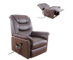 ROLLER TV-Sessel, Relaxsessel - braun - Leder