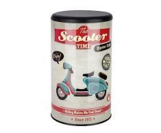 ROLLER Wenko 2in1 Wäschetruhe, Wäschekorb und Hocker Vintage Scooter - Vespa Motiv - 54 Liter