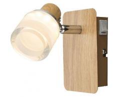ROLLER LED-Wandstrahler, Wandleuchte, Wandlampe Alonis - Holz - braun, A+