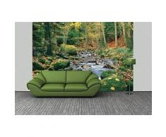 ROLLER Fototapete, Mustertapete 8-teilig Wald Fluss - 366x254 cm