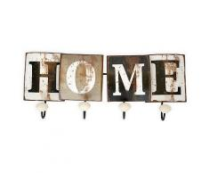 ROLLER Vintage-Wandgarderobe Home - Metall - 46x18 cm