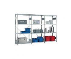 Steckregal H2000xB3000xT400mm Grund-/Anbauregal verz.12 Stahlböden Trgf.150kg
