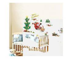 Weihnachtswand-Aufkleber Weihnachtsbaum-Weihnachtsmann-Fenster kann Wand-Aufkleber entfernen-Festival Decor Sticker