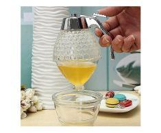 200ML Honeycomb Spender Acryl Honig Topf Sauciere Kristallsirupzufuhr-Zubehör