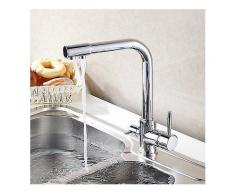 Küchenarmatur Hot amp; Cold Water Purifier Wasserhahn Einlochmontage Doppelgriff 360 Grad drehbar Doppelgriff Double Way Wasserhahn-Küche-Wasserhahn